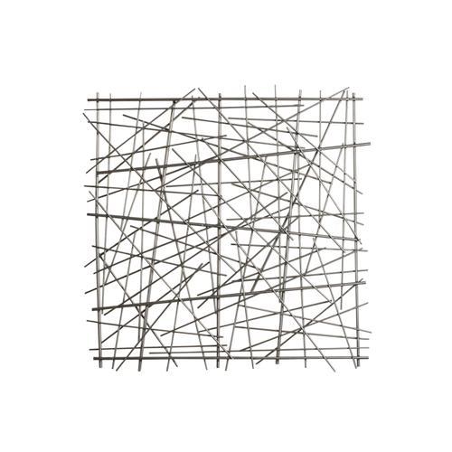 "Sagebrook Home - Metal 21"" Abstract Square Wall Decor, Black Wb"