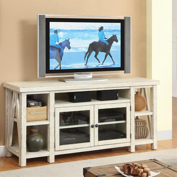 Aberdeen - TV Console - Weathered Worn White Finish