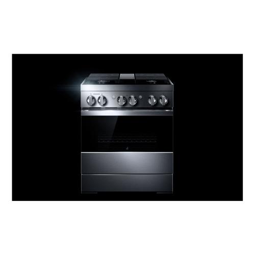 """30"""" NOIR™ Dual-Fuel Professional-Style Range"""