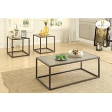 View Product - 3-Piece Occasional Tables Cocktail Table: 48 x 24 x 18H End Table: 24 x 22 x 22H