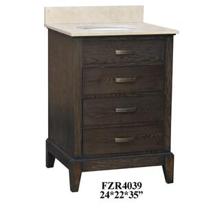 "Kensington 3 Drawer 24"" Vanity Sink Product Image"