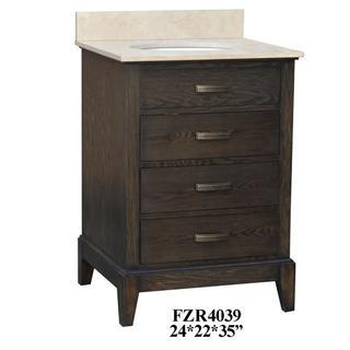 """See Details - Kensington 3 Drawer 24"""" Vanity Sink"""