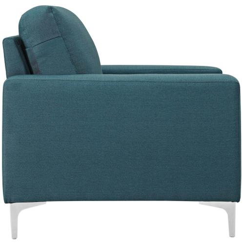 Allure Upholstered Armchair in Blue