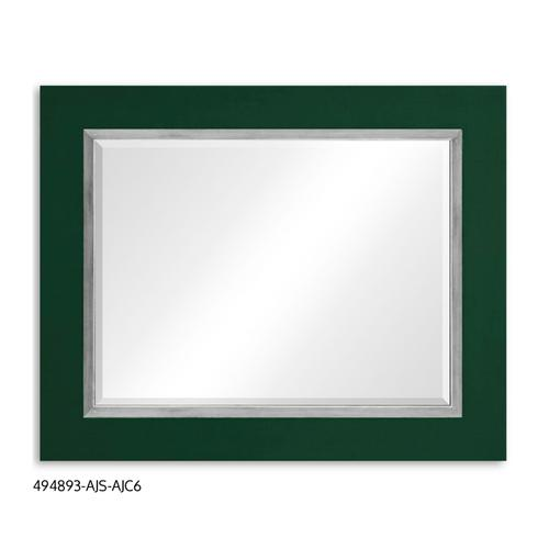 """Teal Homespun"" mirror (Forest/Silver)"