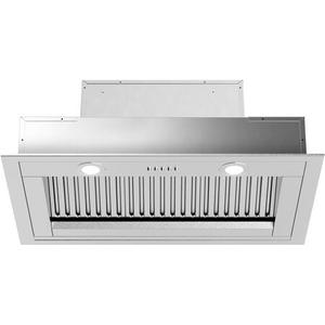 Liberta Insert Hood with 560 CFM Baffle Filters LED Lighting in Stainless Steel