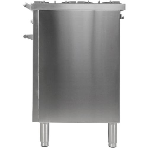 Professional Plus 40 Inch Dual Fuel Liquid Propane Freestanding Range in Stainless Steel with Chrome Trim