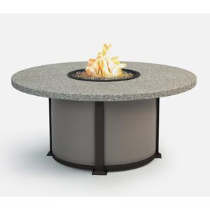 """48"""" Round Chat Fire Pit Ht: 24.5"""" Valero Aluminum Base (Indicate Top, Frame, & Side Panel Color)"""