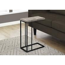 ACCENT TABLE - TAUPE RECLAIMED WOOD-LOOK / BLACK METAL