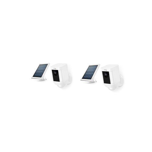 2-Pack Spotlight Cam Solar - White