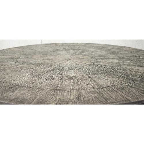 Drum Coffee Table - Ashen Gray Finish