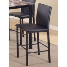 Citico Metal Counter Height Dining Chairs with Black Metal Frame, Set of 4