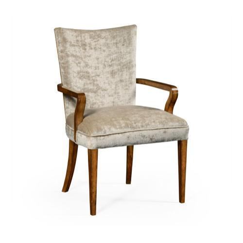 Biedermeier Style Walnut Dining Armchair (Calico)