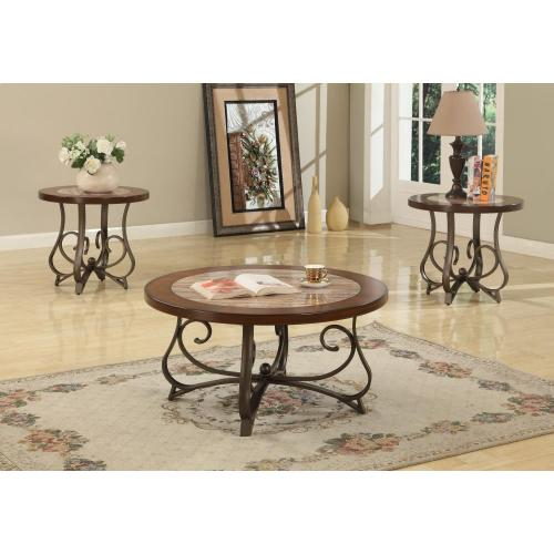 American Wholesale Furniture - 3 Pack - Cocktail Table & Two End Tables