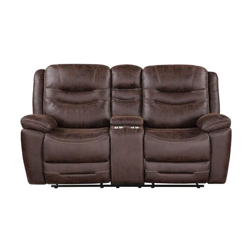 Stetson Manual Reclining Console Loveseat