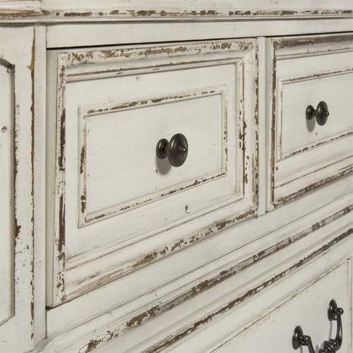 King Uph Sleigh Bed, Dresser & Mirror, Chest