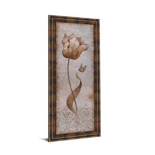 "Classy Art - ""Tulip & Butterfly I"" By Nan Framed Print Wall Art"