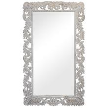 See Details - Sophia Carved Mirror White
