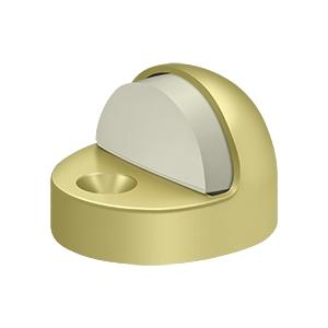 Dome Stop High Profile, Solid Brass - Polished Brass
