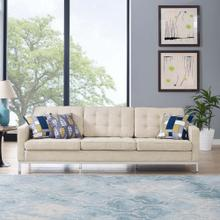 Loft Upholstered Fabric Sofa in Beige