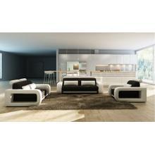 Divani Casa 1005B Modern Black and White Bonded Leather Sofa Set