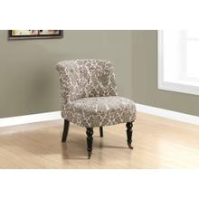 ACCENT CHAIR - TRADITIONAL STYLE TAUPE TAPESTRY