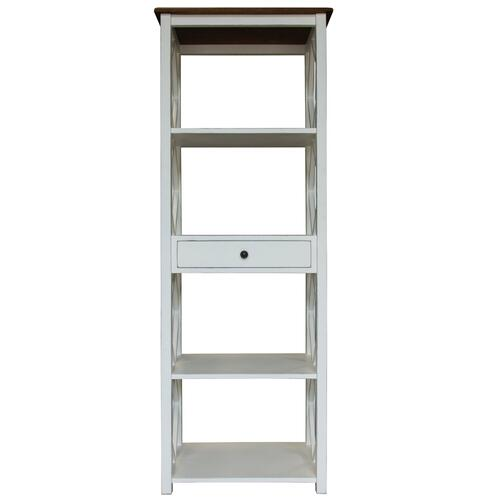 Book Shelf, Available in Hampton Brown or Hampton Grey Finish.