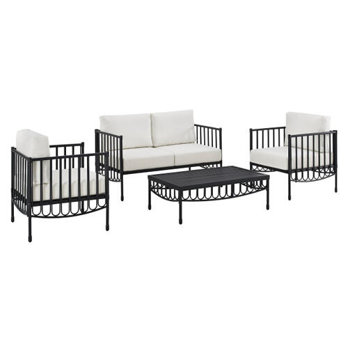 Metal 2 Chair set in Black (Component 2 of 2)