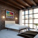 Tracy 4 Piece Queen Bedroom Set in Cappuccino Beige Product Image