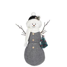 Stuffed Snowman Figurine - Sm.