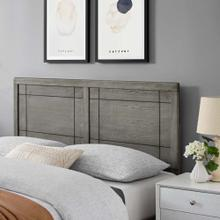 View Product - Archie Full Wood Headboard in Gray