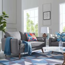 Revive Upholstered Fabric Sofa in Light Gray