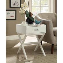 7079 WHITE X-Base End Table