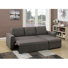 Tahlia 2pc Sectional Sofa Set, Ash-black-cotton-blend