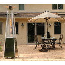 Hanover 7-Ft. 42,000 BTU Pyramid Propane Patio Heater in Stainless Steel, HAN102SS