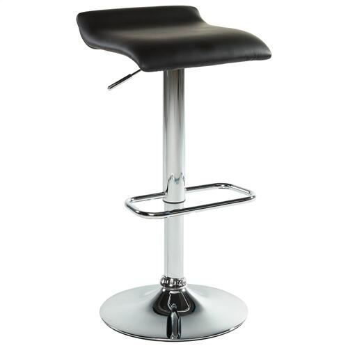 Fabia II Air Lift Stool, set of 2 in Black