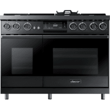 "48"" Pro Dual-Fuel Steam Range, Graphite Stainless Steel, Natural Gas/High Altitude"