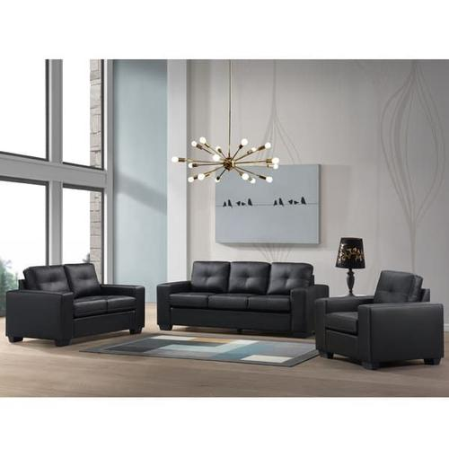 Henley Black with White Stitch Sofa, Loveseat, Chair, SWU9230