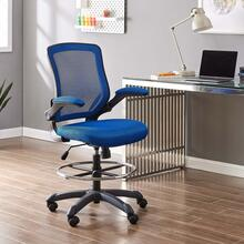 Veer Drafting Chair in Blue