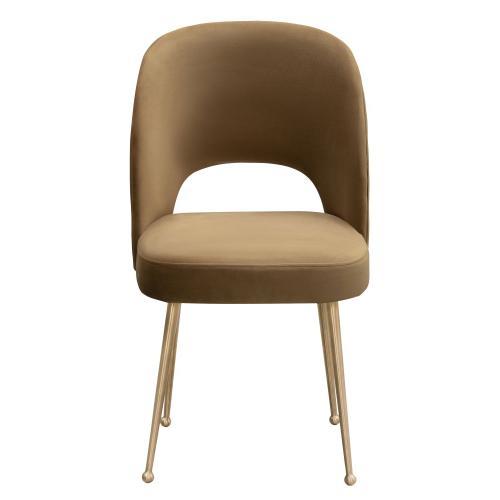 Tov Furniture - Swell Cognac Velvet Chair
