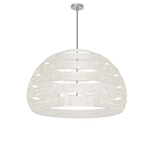 4lt Chandelier Pc, Lam Camelot Crm Shade