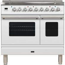 See Details - Professional Plus 36 Inch Dual Fuel Liquid Propane Freestanding Range in White with Chrome Trim