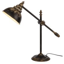 Distressed Black Desk Lamp. 40W Max.