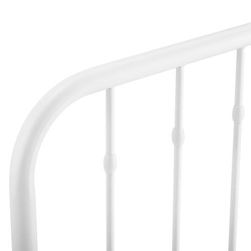 Modway - Lennon Twin Metal Headboard in White