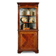 See Details - Mahogany open corner cabinet with cupboard