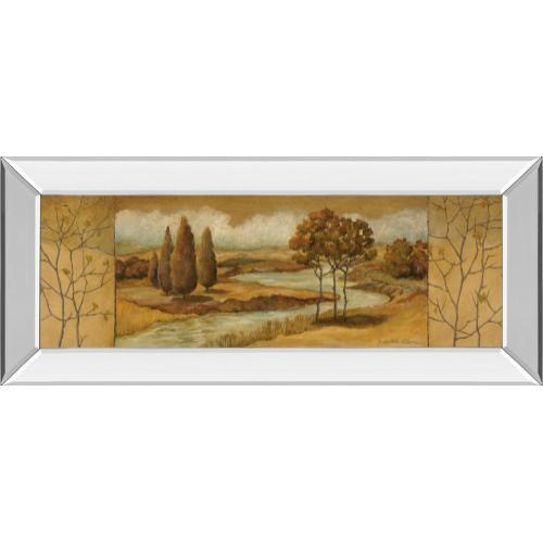 "Classy Art - ""River Scene I"" Mirror Framed Print Wall Art"