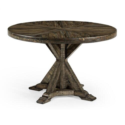"48"" Dark Driftwood Circular Dining Table"