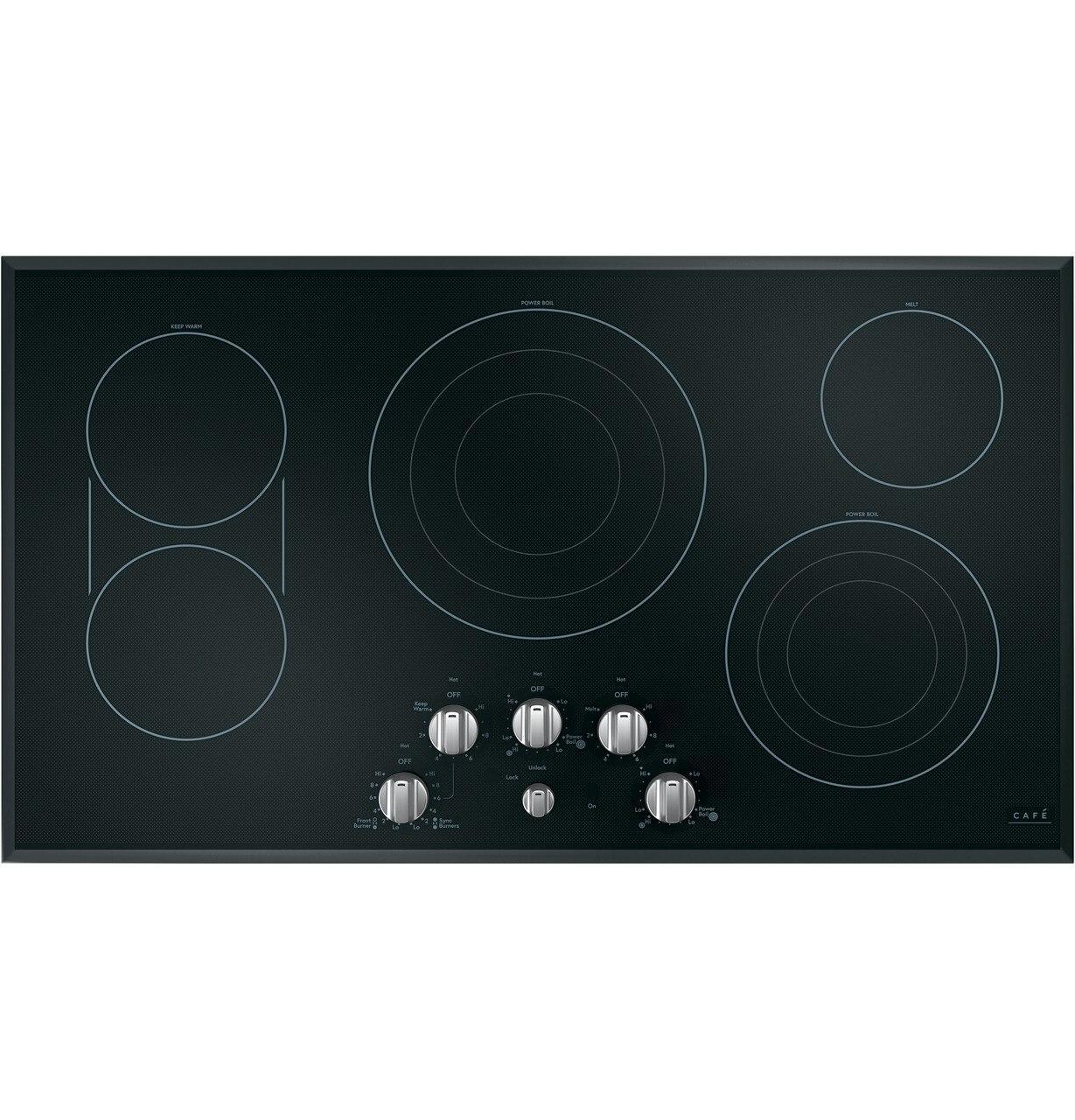 "Cafe AppliancesCafé™ 36"" Knob-Control Electric Cooktop"
