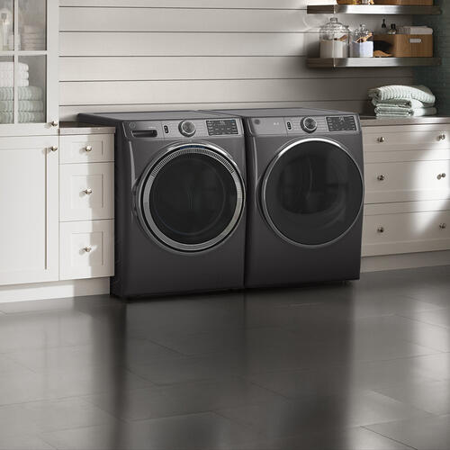 GE® 5.5 cu. ft. (IEC) Capacity Washer with Built-In Wifi Diamond Grey - GFW550SMNDG