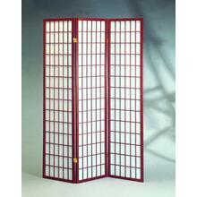 See Details - 3 Panel Cherry Oriental Shoji Screen / Room Divider