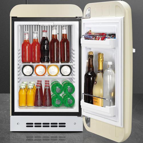 """Approx 16"""" 50's Retro Style Mini Refrigerator, Cream, Right hand hinge"""